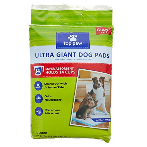 TOP PAW Ultra Giant Dog Puppy Pads, 27.5
