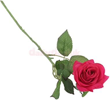 Generic Single Stem Artificial Rose Flower Bouquet Wedding Party Home Decor Rose Red