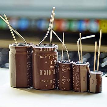 4 pcs Elna SILMILC II Capacitors 50V 10uf High end Audio Grade