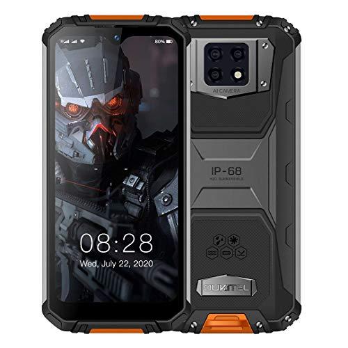 OUKITEL WP6 (2020) Outdoor Smartphone Ohne Vertrag, Helio P70 Acht Kern 4 GB + 128 GB Handy, 10000 mAh Akku (9 V / 2 A Schnellladung), 16 MP Dreifachkamera, FHD+ 6,3'' Anzeige, Dual SIM/OTG/GPS