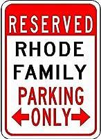 金属看板ロードファミリー駐車場ノベルティスズストリートサイン