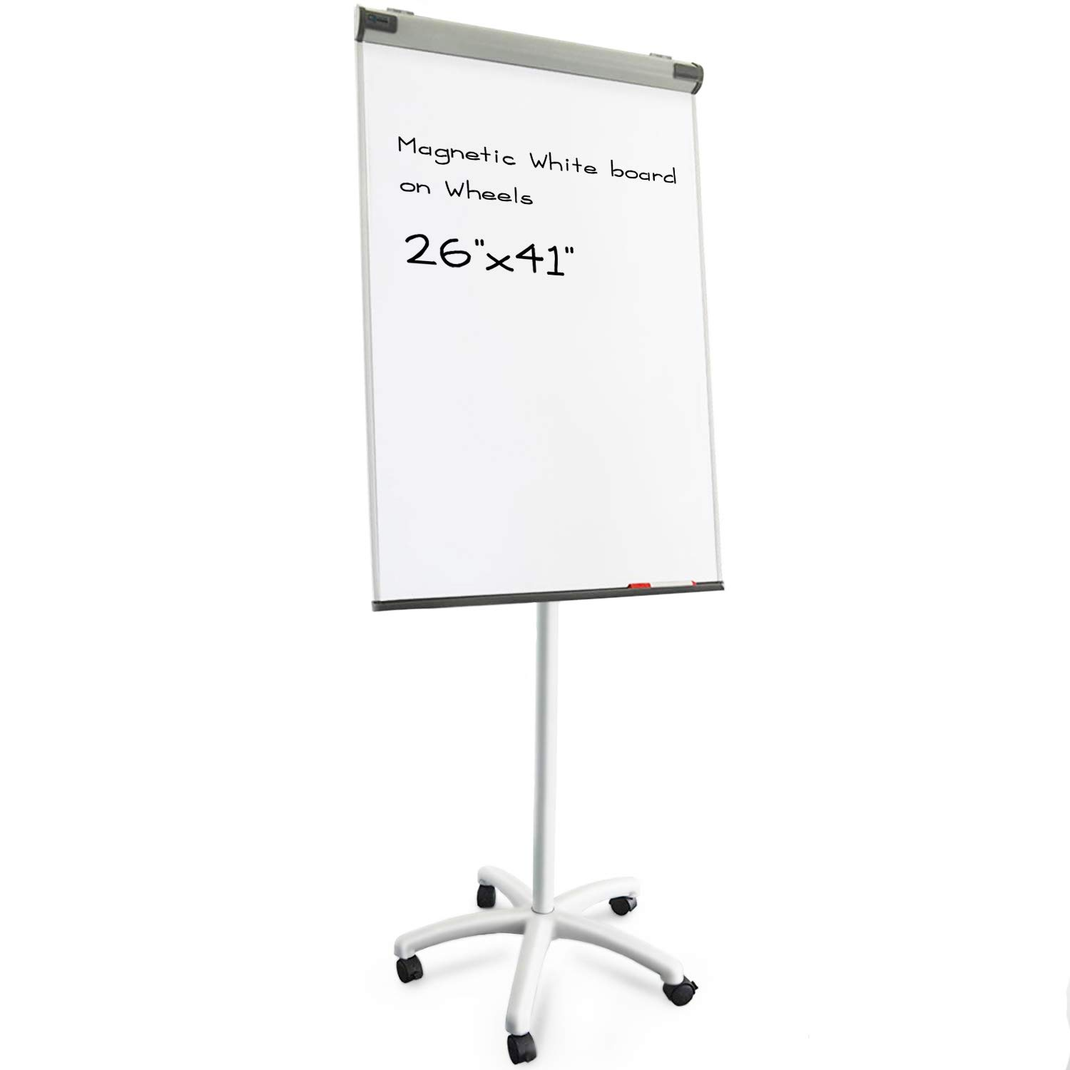 Master Of Boards Flip Chart Easel Dry Erase Easel Portable White Board Easy Setup Magnetic Stand Available With Tripod Or Wheels 27 X 41 White Buy Online At