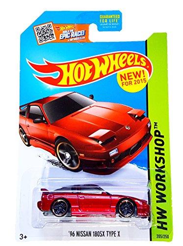 Hot Wheels, 2015 HW Workshop, \'96 Nissan 180SX Type X [Red] Die-Cast Vehicle #205/250 by Hot Wheels