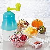 アイスクリーム型 かき氷雪のコーンSlushiesのための家庭用ハンドヘルドマニュアルアイスクラッシャーハンドかき氷機 アイスクラッシャー