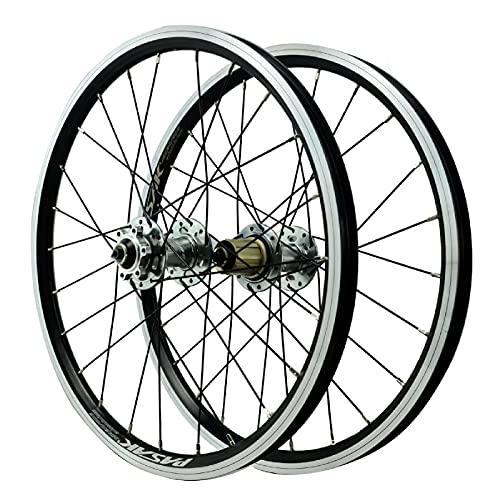 ZPPZYE Ruedas MTB con Freno V 20 Pulgadas, Bicicleta Híbrido/Borde de Montaña Rueda de Liberación Rápida 24 Hoyos para 7-12 Velocidades (Size : 20 Inch)