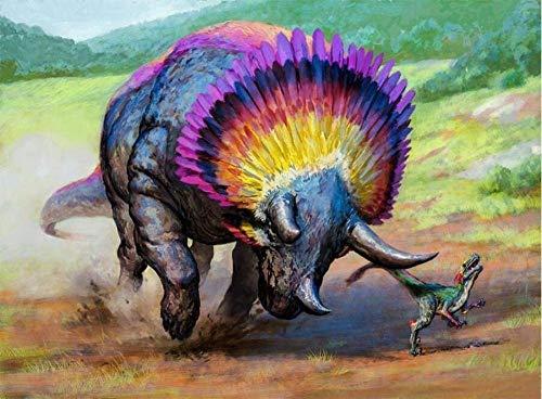 guyuell Puzzle per Adulti in Legno da 500 Pezzimodello Colorato Triceratopo Puzzle di Grandi Dimensioni per Adulti E Adolescenti Molto Impegnativo Puzzle di Grandi Dimensioni