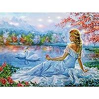 ダイヤモンド刺繡少女針仕事5Dダイヤモンドモザイククロスステッチフルセット未完成の装飾DIY絵画