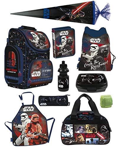 Familando Schulranzen-Set Star Wars Classic 10-TLG. Federmappe, Sporttasche, Schultüte 85cm und Regenschutz PL