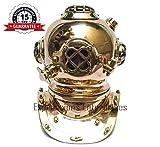 Expressions Enterprises Tauchhelm aus Messing und Kupfer, 25 cm hoch, handgefertigt, nautisches...