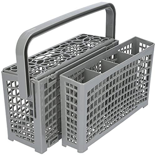 2 in 1 - Cestello portaposate universale adatto per molte lavastoviglie e lavastoviglie Bosch Siemens Miele AEG Neff - 23,0 cm x 8,5 cm + 4,5 cm x 13,5 cm