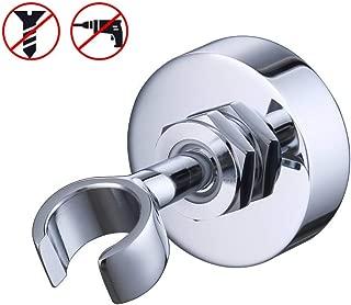 KES All Brass Handheld Shower Bracket Hand Held Shower Wand Hose Sprayer Holder Drill Free Glue Wall Mount Chrome, C213-CH