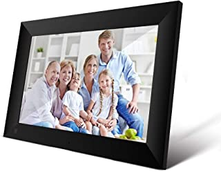 10.1Inch 16GB Smart WiFi Cloud Digital Picture Frame with 800x1280 IPS LCD Panel,Frameo App Send Photos from Anywhere,Touch Screen,Portrait and Landscape(Black)