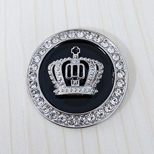 Crystal Princess Crown Car Emblem, Car Exterior & Interior Bling Car Accessories, Car Decoration Decal Sticker, Car Bling Accessory for Women, Rhinestone Crown Emblem