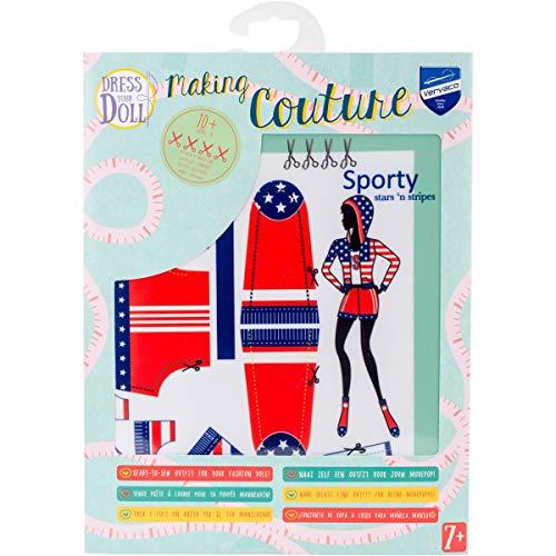 Vervaco PN-0164667 Kit de création de tenue de couture, Assortie, Convient à toute poupée de mode de 29 cm