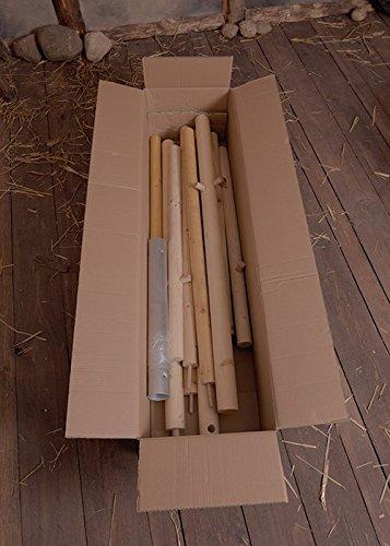 Battle-Merchant Holzstangen-Paket für Ritterzelt Historische Mittelalterzelt Herwald, 3 m 5m oder 6 m Durchmesser Ritterzelt LARP Lagerzelt Mittelalter Wikinger (Für 3 m Durchmesser)