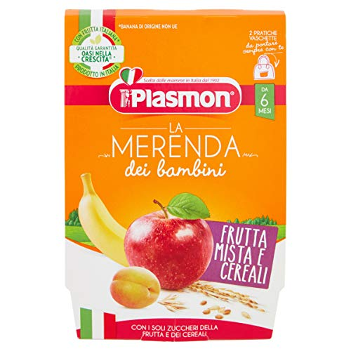 Plasmon Merenda Frutta Mista e Cereali 2x120g