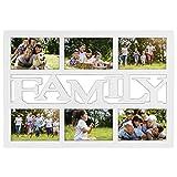 Hama Budapest - Family Blanco Portafotos múltiple - Marco (Vidrio, De plástico, Sintético, Blanco, Portafotos múltiple, 10 x 15 cm, 10 x 15 cm, Clip-Fix)