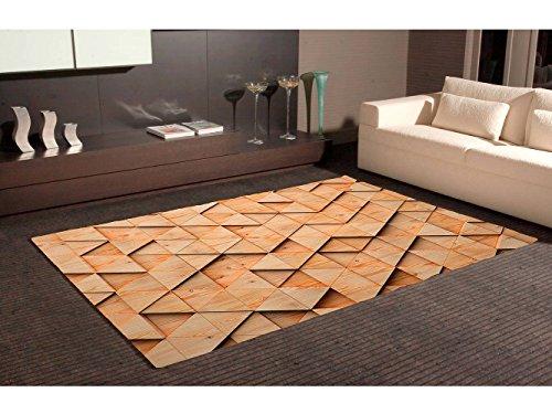 Oedim Alfombra Imitación Parquet Triangulos PVC   95 cm x 200 cm   Moqueta PVC   Suelo vinilico   Decoración del Hogar