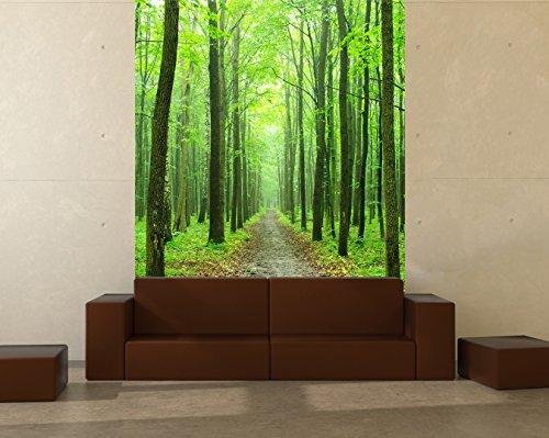Bilderdepot24 Fototapete selbstklebend Waldweg - 150x180 cm