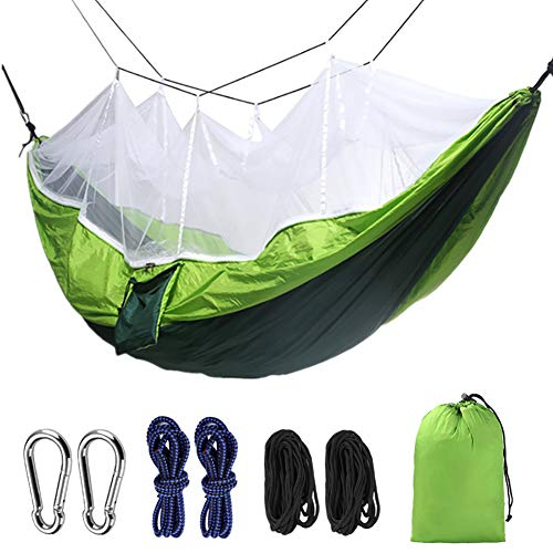 MINI Boutique Hamac de Camping avec moustiquaire, Tissu de Parachute léger, hamac d'extérieur, pour intérieur, Camping, randonnée, Sac à Dos, Jardin, a