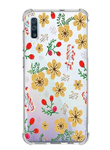 Suhctup Coque Compatible avec Samsung Galaxy S11E,Étui Houssee de Transparent Motif Mignon [Antichoc Coussin d'air] Crystal Clear Souple Silicone TPU Bumper Protection de Cover Case,Fleuri 3