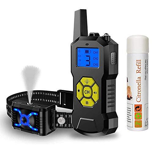 Havenfly Collar de Adiestramientopara Perros sin Descarga Eléctrica, Collar de Entrenamiento para Perros con Función de Rociar Vibración y Sonido, Impermeable y Recargable