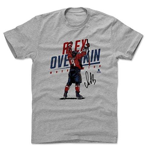 500 LEVEL Alex Ovechkin Shirt (Cotton, Large, Heather Gray) - Washington Men's Apparel - Alex Ovechkin Goal Celebration B
