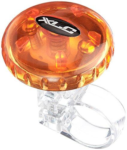 XLC Unisex– Erwachsene Fahrradglocke DD-M12 durchmesser 36 mm Fahrradklingel, orange, 3.6 x 3.6 x 4 cm