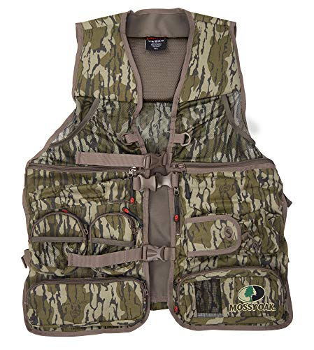 Mossy Oak Longbeard Elite Turkey Hunting Vest, Turkey Vest for Hunting with Seat, Original Bottomland, X/2XL