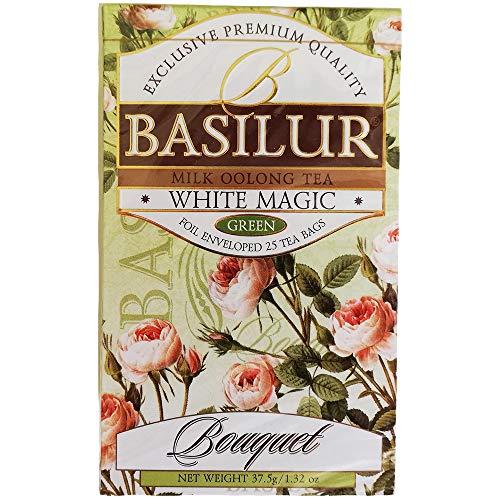 Basilur Teemischung White Magic 2er Pack (2 x 25 Teebeutel) Ceylon Grüntee Oolong Tee tea