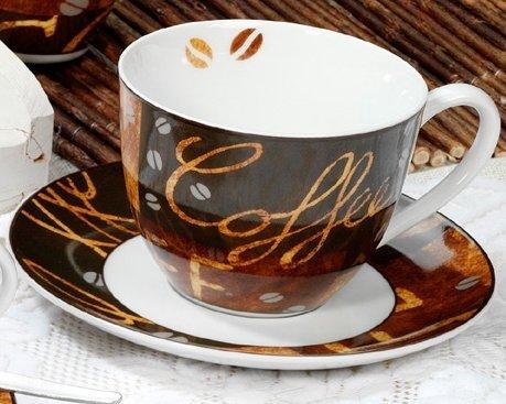 Cappuccino Tassen-Set Chile - Porzellan - mit Untertasse - 2 Stück