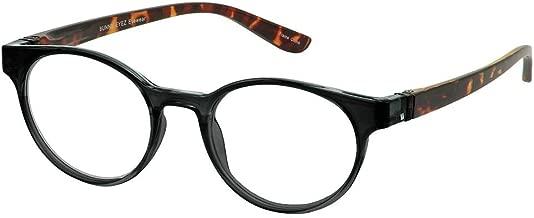 Bunny Eyez Sophie Wearable, Tilt-able, Flip-able Women's Reading Glasses - Tuxedo Black & Tortoise Crystal (+3.00)
