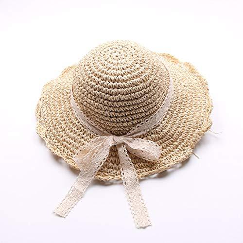 Sombrero de Paja Niña Gorra de Playa de Verano Sombrero de Sol...