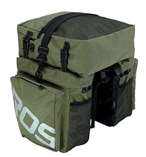 XPhonew Bike Rear Rack Bag, 3 in 1 37L Waterproof Cycling Pannier Rear Rack Bag Bicycle...