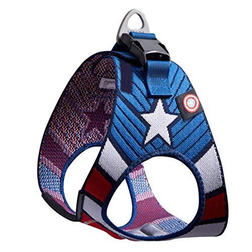 Arnes Perro Yuan Ou Arnés para perros y gatos Marvel, chaleco ajustable para mascotas, correa de plomo para caminar para cachorros, arnés para perros pequeños y medianos, hombre araña, Capitán América