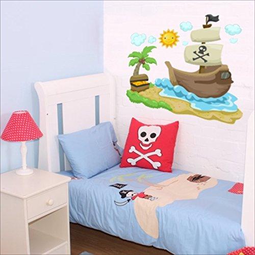 Pegatina adhesiva para pared, diseño de piratas.