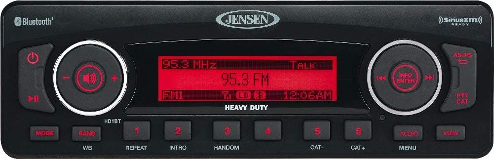 JENSEN HD1BT2 AM FM Bluetooth for Touring SEAL limited product Stereo Harley Challenge the lowest price