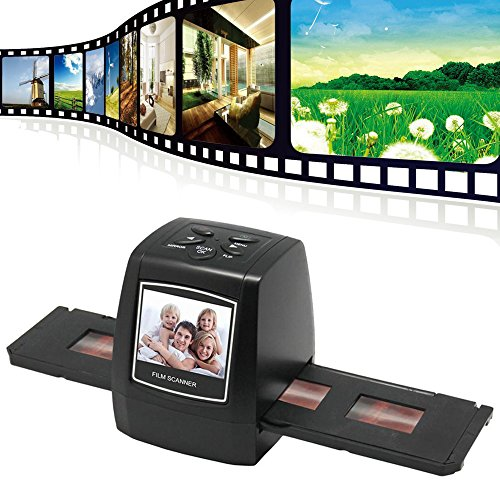 DIGITNOW! 5/10Megapixels Stand Alone 2.4'' LCD Display Film/Slide Scanner 1800DPI High Resolution Picture Scanner in USB2.0 Interface Convert to PC