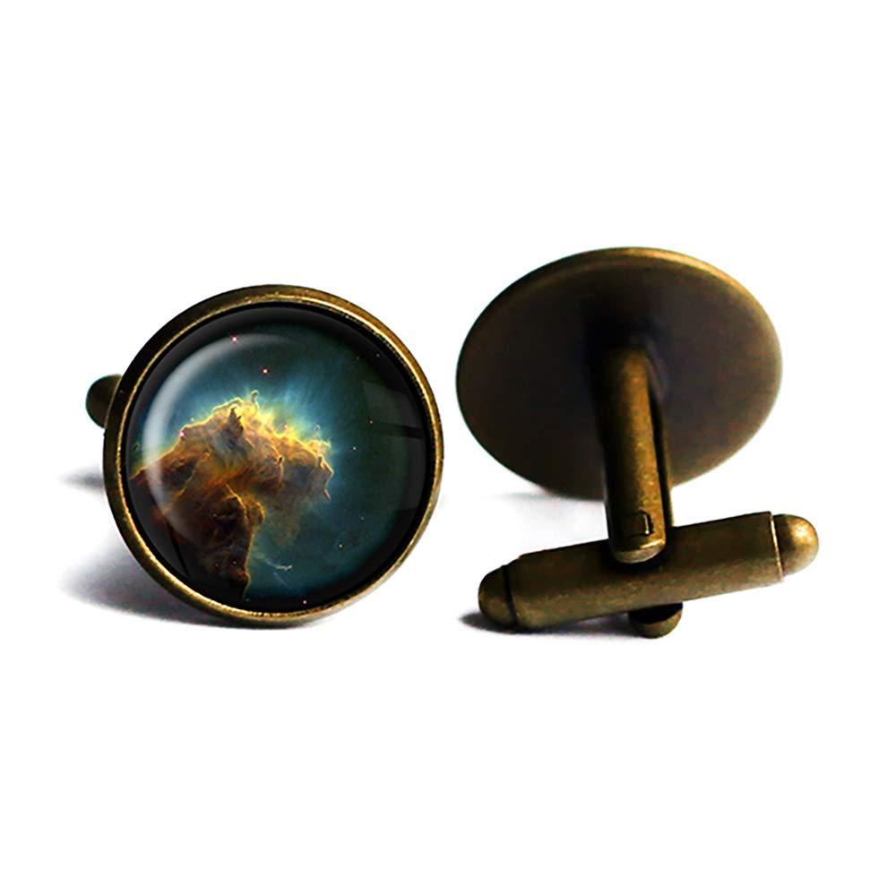 NASA Sales for sale Ranking TOP9 Photograph Eagle Nebula Bronze Cufflinks Antique