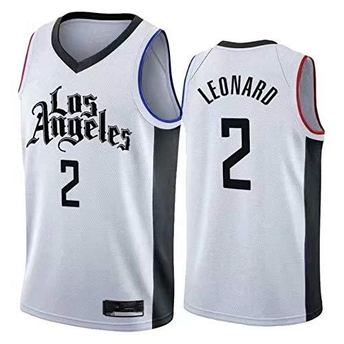 Herren Frau Basketball Swingman Jersey NBA Clippers 2# Leonard Trikot Classic Stickerei Ärmellose Atmungsaktiv Weste