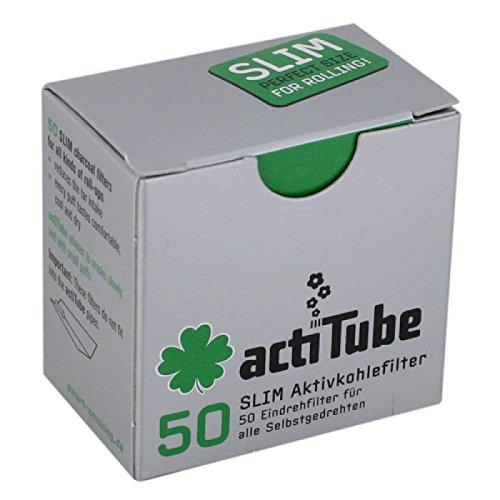 actiTube actieve koolstoffilters: 480 doosjes van 50 24000 afzonderlijke filter, actieve koolstoffilter, wit, 6 x 4 x 4 cm, 480 eenheden