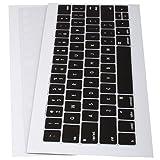 Lilware Silikon-Tastaturabdeckungen für neues MacBook Pro 13/15/17 (Ausgabe 2016 Jahr) QWERTY (US-Layout) Schwarz/Transparent