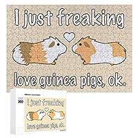 私はただ愛気モルモット Pig 300ピースのパズル木製パズル大人の贈り物子供の誕生日プレゼント
