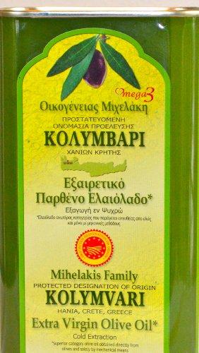 Griechisches Extra natives Olivenöl Kolympari 1 Liter Kanister Mihelakis Familie Kolymvari Oliven Öl