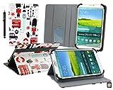 Emartbuy® Mediacom WinPad 7.0 W700 Windows Tablet Spielzeug Stadt Multi Angle Exekutiv Folio Mappen Kasten Abdeckung mit Kartensteckplätze + Eingabestift