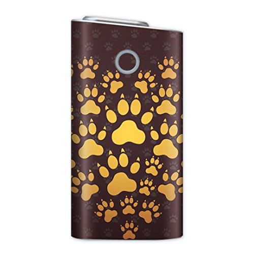 glo グロー グロウ 専用スキンシール 裏表2枚セット カバー ケース 保護 フィルム ステッカー デコ アクセサリー 電子たばこ タバコ 煙草 喫煙具 デザイン おしゃれ glow ラブリー 動物 あしあと 肉球 005417
