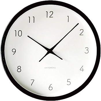 KATOMOKU Muku Clock 7 電波時計 連続秒針ムーブメント km-60 φ306mm (ブラック)