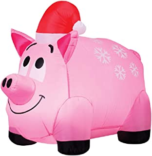 christmas pig yard decorations