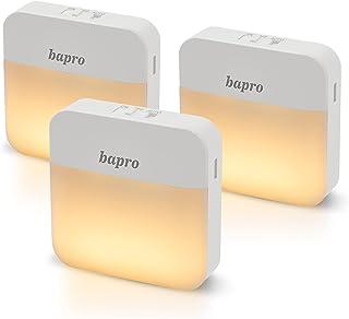 Veilleuse Enfant LED, 3 Pack Lampe de Nuit Détecteur De Mouvement, Veilleuse Automatique Sans Fil Rechargeable Blanc Chau...