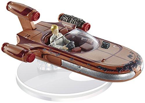 Star Wars Luke Skywalker s Landspeeder con soporte y modelo coleccionable, serie...